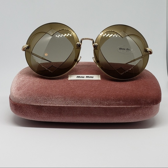 27400f25ca29 Miu Miu Sunglasses OVER LAPPING Round Frame